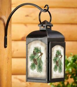 Candle - Pinecone Candle Lantern (Black) by Persis Clayton Weirs