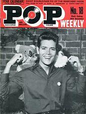 UK 1963 Music Magazine: POP WEEKLY no. 18  Cliff Richard /  Searchers / K. Kirby