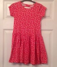 Young Girls - Pretty Red Flowered Cotton Summer TU Dress - Size 6 Years