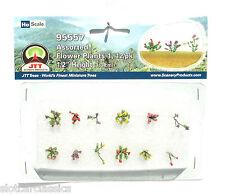 "JTT SCENERY 95557 ASSORTED FLOWER PLANTS 1  HO SCALE  1/2"" HIGH   12/PK"