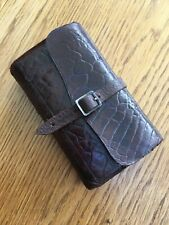 VINTAGE LEATHER FLY WALLET , CIRCA 1900  + FLIES