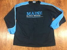 University Maine Black Bears Long Sleeve Embroidered Shirt Size Large Made India