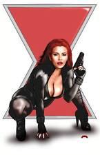 Black Widow Avenger Marvel comics art Scarlett Johansson 11x17 print Dan DeMille