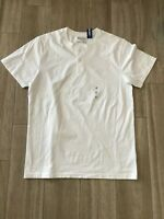 OLD NAVY   MENS SIZE M  SHORT SLEEVE SHIRT WHITE  2 BUTTONS ~ NEW