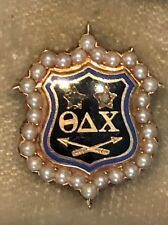 Large Gold 1890's Theta Delta Chi Fraternity Pin