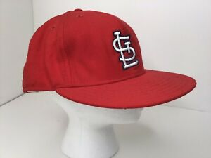 Vintage MLB St Louis Cardinals New Era Wool Fitted Hat 7 1/2 READ DETAILS