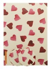 NEW Emma Bridgewater Pink Hearts Wrapping Paper x 2 Sheets, 2 Tags