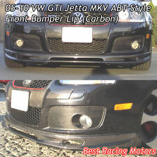 05-10 VW GTI Jetta MK5 A Style Front Bumper Lip (Carbon)