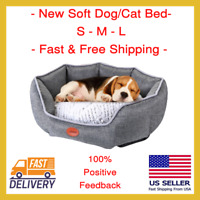 New Gray Bed For Dog Cat Pet Washable Waterproof Cushion Sofa US Shipping