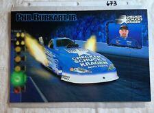 Phil Burkart JR Signed NHRA Checker Kragen Photo Foldout N 673
