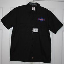 NWT Planet Nutrition s/s button-front Dickies work shirt sz Large--bodybuilding