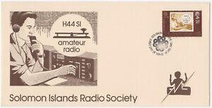 (Y4-8) 1983 Solomon Islands FDC 18c Radio Society (H)