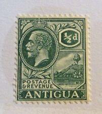 ANTIGUA Scott #42 * MH, ½d , green, fine - very fine + 102 card