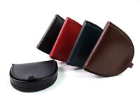 Mens Ladies New Quality Genuine Leather Coin Tray Coin Pouch Purse Wallet