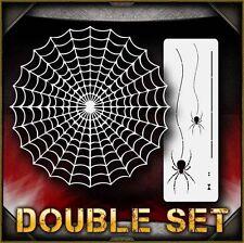 Spider Web Set 2 Airbrush Stencil Template Airsick