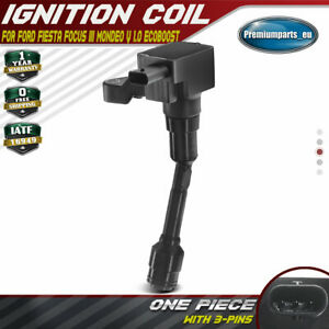 New Ignition Coil for Ford Fiesta MK 6/7 Focus III Mondeo V Transit 1.0 EcoBoost