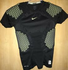 Nike Pro Combat Dri Fit Hyperstrong 4 Pad CompressIon Shirt Black Size Medium