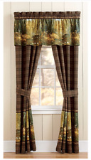 Whitetail Birch Plaid Lined Curtains / Drapes Rod Pocket Camo Buck / Deer Nature