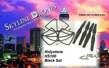 Holy Stone HS100 Propellers & Bumper Guards Set BLACK