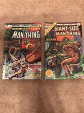Marvel Comics Lot Giant Size Man Thing Man Thing Aug 1 Nov 7