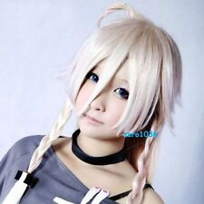 VOCALOID3 IA Cosplay party fashion hair end Baby Pink Gray gradient wig  &347