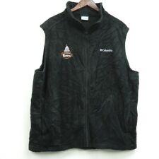 Columbia Sportswear Company Vest Black Full Zip Sleeveless Size 3X Embroidered