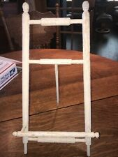 victorian wood painted easle display stand
