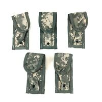 USGI 9mm Pistol Magazine Pouch MOLLE Single Mag ACU Tactical 5 PACK