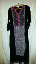 VINTAGE RETRO ? LOVELY BLACK ASIAN WEDDING ? DRESS SULI RANG 36 CHEST