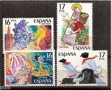 Spain  Edifil # 2744/2747 ** MNH Grandes Fiestas Populares Españolas