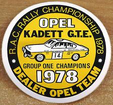 1978 Opel Kadett GTE Champions Rally Race Retro Motorsport Sticker / Decal
