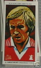 jimmy greenhoff man united soccer Collector card 818