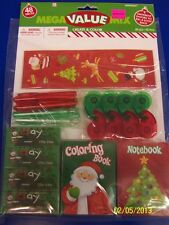 Christmas Create & Color Holiday Party Kids Activity Mega Mix Value Pack Favors