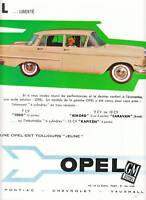 Publicité ancienne voiture Opel 1960 issue de magazine