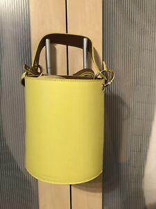 whistles leather matilda bucket bag - yellow
