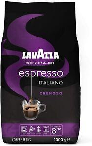 Lavazza Espresso Cremoso, 100% Arabica Medium Roast Coffee Beans 1Kg