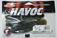 """berkley havoc 5"""" grass pig bass lure green pumpkin watermelon paddletail"""