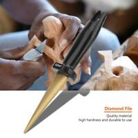 Diamond Double Side File Hardwood Hand Cutter Wood Carving Tool Grit 400/150