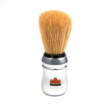 OMEGA SHAVE PROFESSIONAL CHROME ABS Handle Barber Shave Brush Boar Bristle 10083