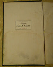 "James Garfield Personally Owned ""Internal Revenue Report"" Book from His Library"