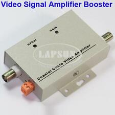 Coaxial Cable Video Amplifier CCTV Camera Signal Booster BNC Balun Connectors US