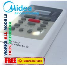 Midea air con conditioner (Split system & Portables) remote ALL Models