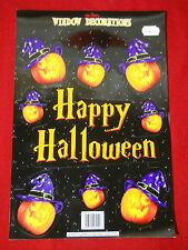 halloween fensterbilder set deko motiv happy halloween kürbis hexenhut