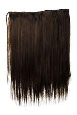 Postiche Large Extensions Cheveux 5 Clips Lisse Marron Brun Cendré 45cm L30173-8