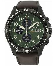 SEIKO SSC739P1 Men's Solar Chronograph Leather Strap Watch 100m WR RRP £350.00