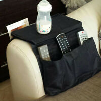 Sofa Arm Rest TV Remote Control Organizer Holder 6 Pockets Chair Couch Bag