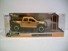 NIB 1:24 Scale Orange Just Trucks 2011 F-150 SVT Raptor Die-cast Truck By Jada