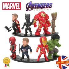Avengers 8 Figure Set End Game Infinity Spiderman Iron Man Cake Topper UK Seller