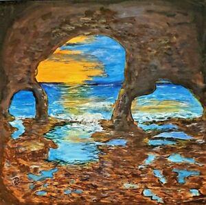 """Sunset Cave"" Original Painting- De Martino Art"