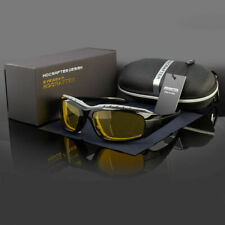 Foam Padded Polarized Wind Resistant Sunglasses Sports Motorcycle Riding Glasses